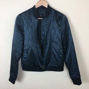 White House Black Market charcoal bomber jacket
